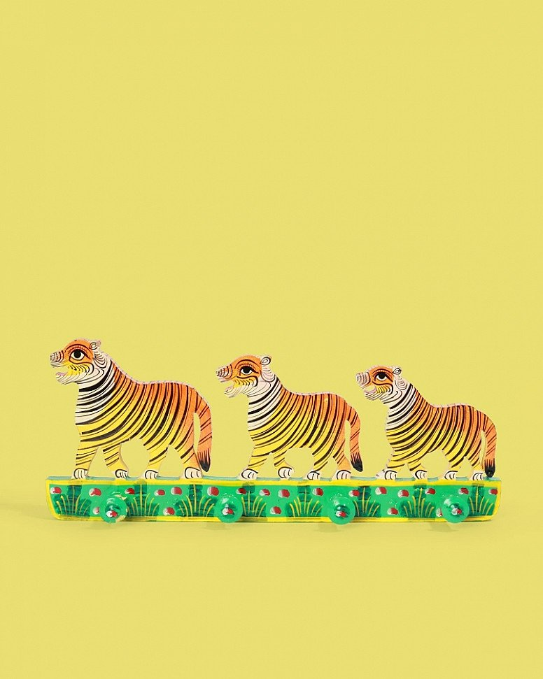 Hand-Painted Wooden Tiger Coat Hook - £24.00!