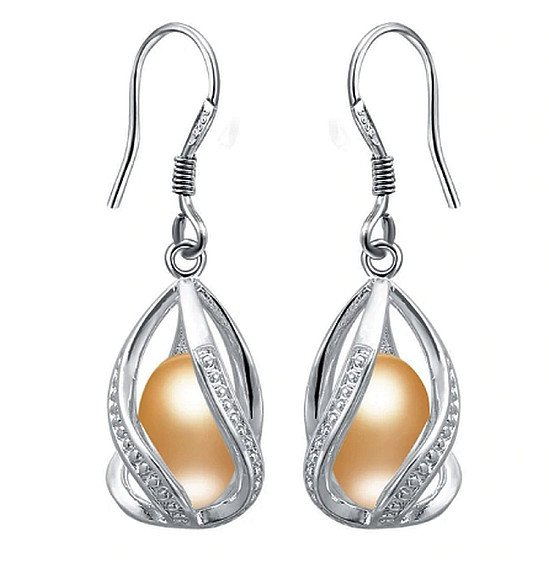Exquisite Natural Pearl Earrings - Gold