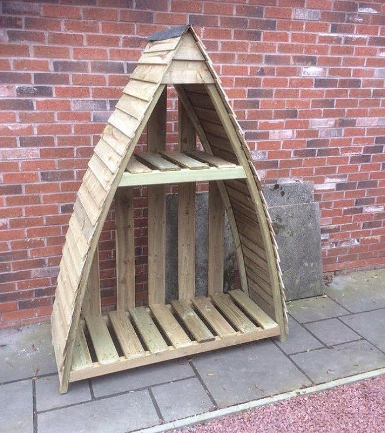 Gallion Garden Wooden Log Store