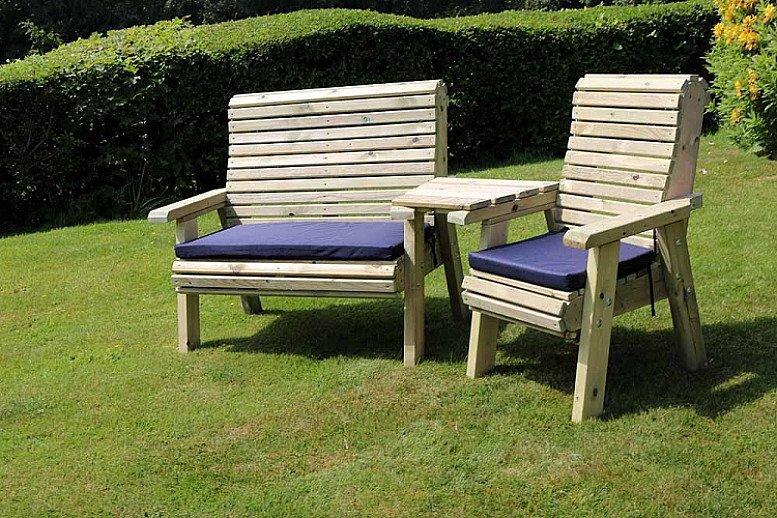 Ergonomic Trio Set With Angled Tray – 3 Seater