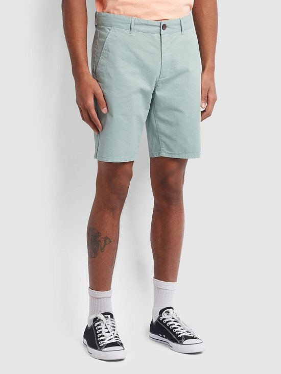 NEW IN -  Hawk Dyed Twill Chino Shorts In Green Mist Regular: £50.00!