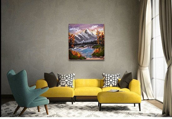 10% of hand painted landscapes painting