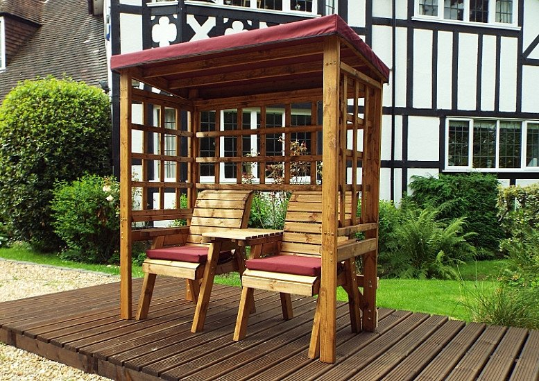 Henley Twin Garden Arbour – Burgundy