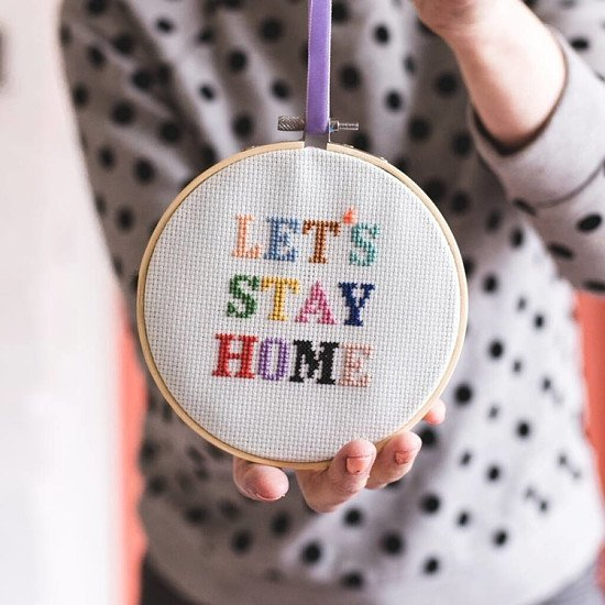 Support Local - Lets Stay Home Cross Stitch Kit: £21.95!