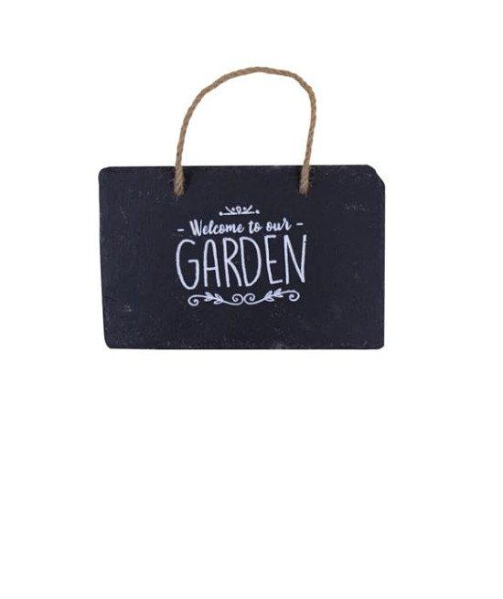 Gardening - SLATE HANGING GARDEN SIGN: £5.99!