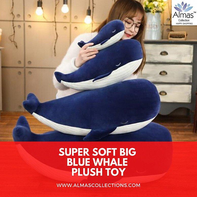 Super Soft Big Blue Whale Plush Toy