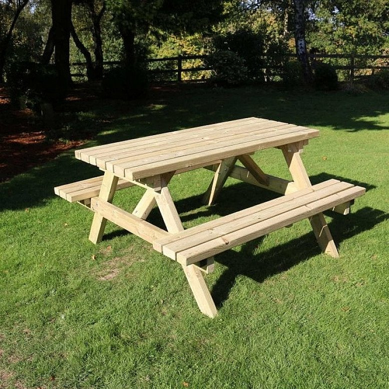 Deluxe Picnic Table 6ft Length 8 Seater – PT104