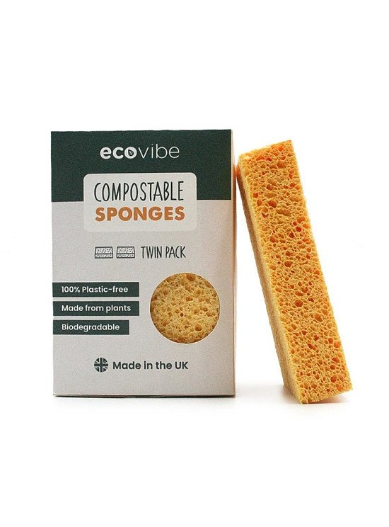 GO GREEN WHILE AT HOME: COMPOSTABLE SPONGES (2 PACK) - £3.99!