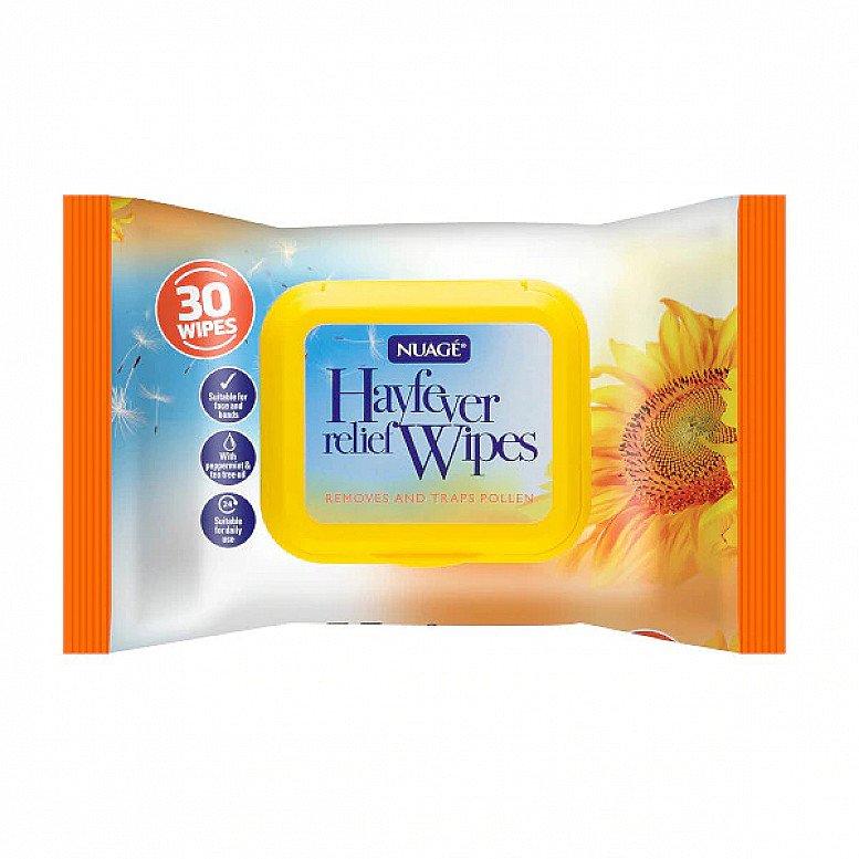 SALE - Nuage Men Hayfever Relief 30 Wet Wipes!