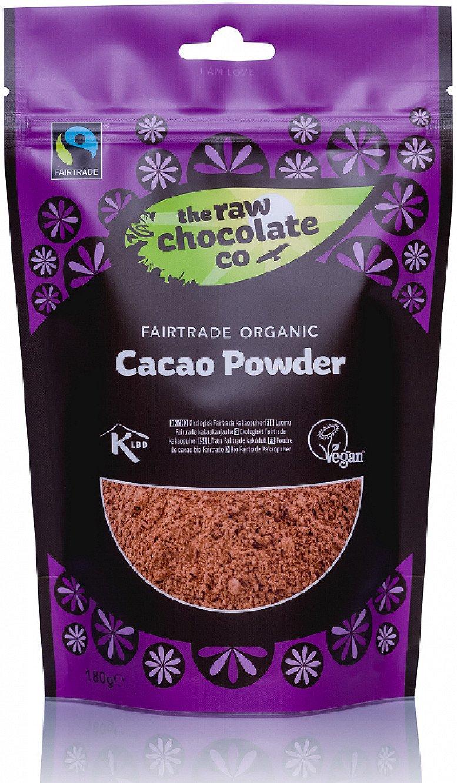 FAIRTRADE & ORGANIC - THE RAW CHOCOLATE CO RAW CACAO POWDER - 180G: £4.20!