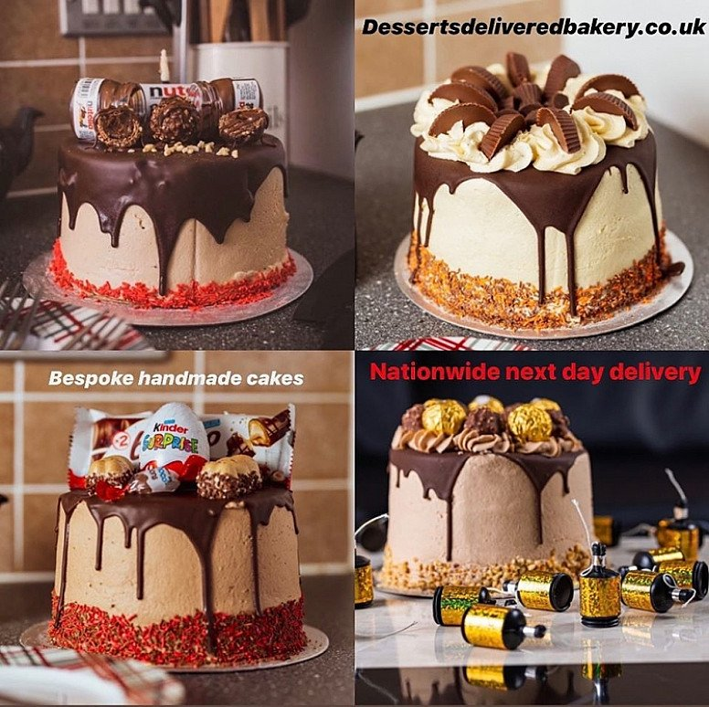 Handmade bespoke cakes delivered anywhere in the UK!