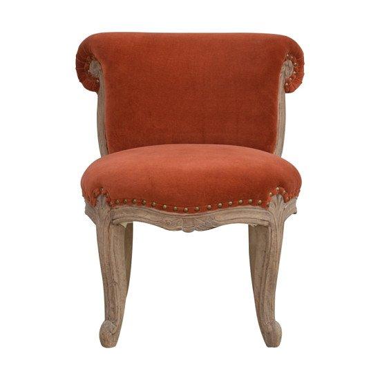 Brick Velvet Studded Chair multi color