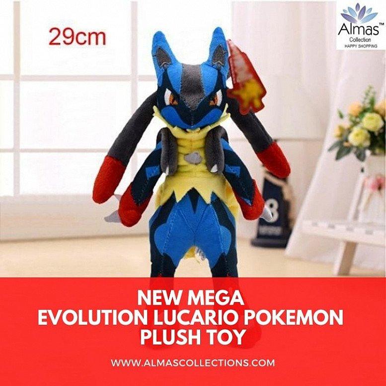 New Mega Evolution Lucario Pokemon Plush Toy