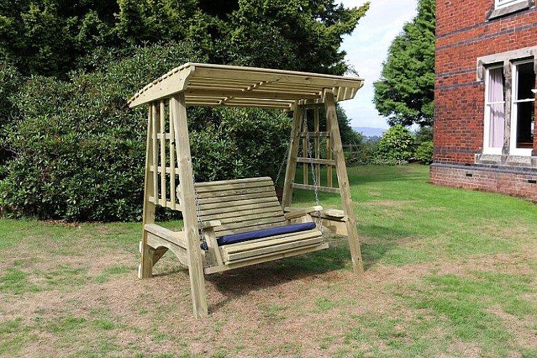 Cottage Garden Woooden Swing 3 Seater (SW104)