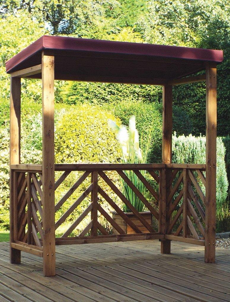 Dorchester Garden BBQ Shelter Burgundy Roof Cover – HB137B