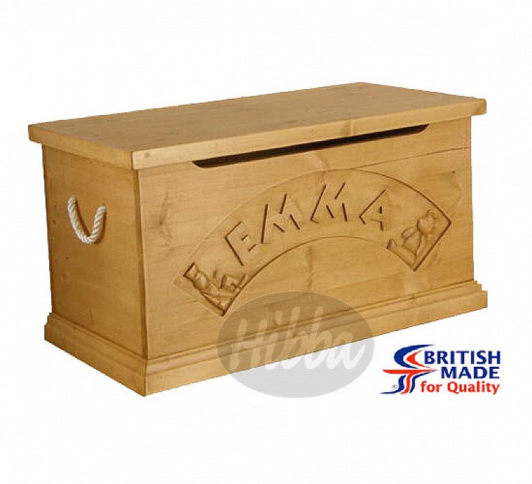 Solid Pine Personalised Toy Box – as gifted to HRH Prince George