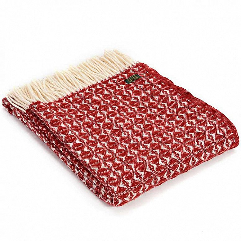 This stunning Cobweave Throw in red is made in the UK from the finest pure new wool - £65.00!