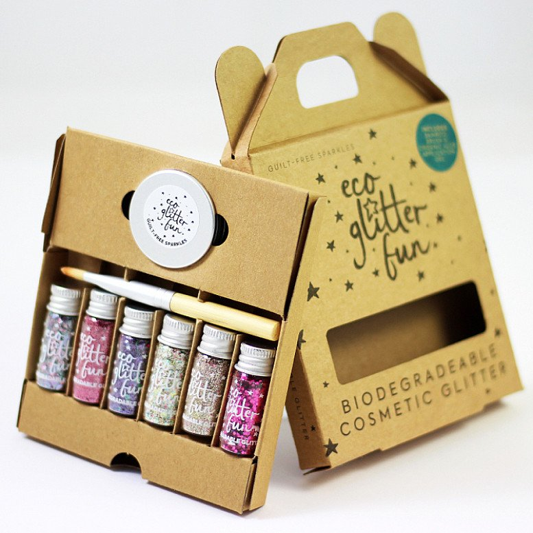 Eco Glitter uses compostable film to remain completely biodegradable while still dazzling!