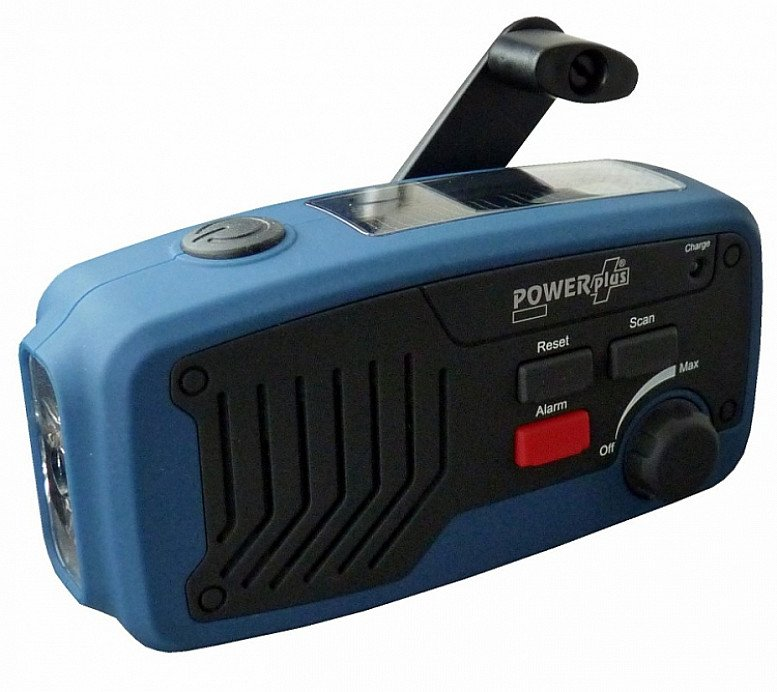 POWERPLUS PANTHER WIND UP & SOLAR RADIO, TORCH & POWER BANK - £28.99!