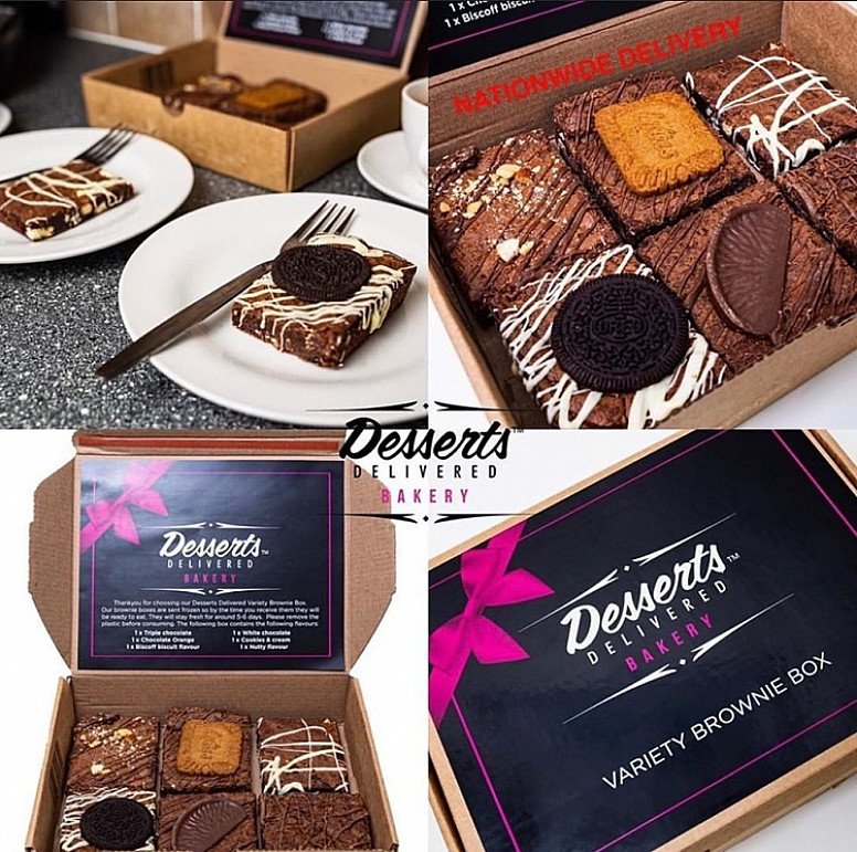 Our variety brownie boxes are back in stock - Nationwide delivery!