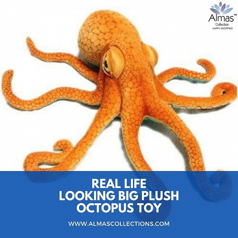 New Real Life looking Big Plush Octopus Toy