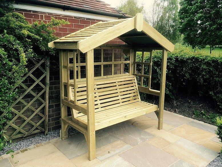 Cottage Arbour – Trellis Back & Sides -3 Seats (CA104)