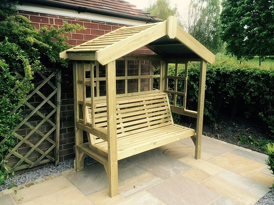 Cottage Arbour – Trellis Back & Sides -3 Seats (CA104)