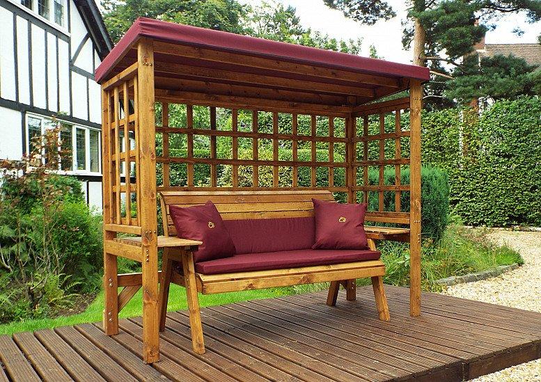 Wentworth Garden Arbour – Burgundy 3 Seater
