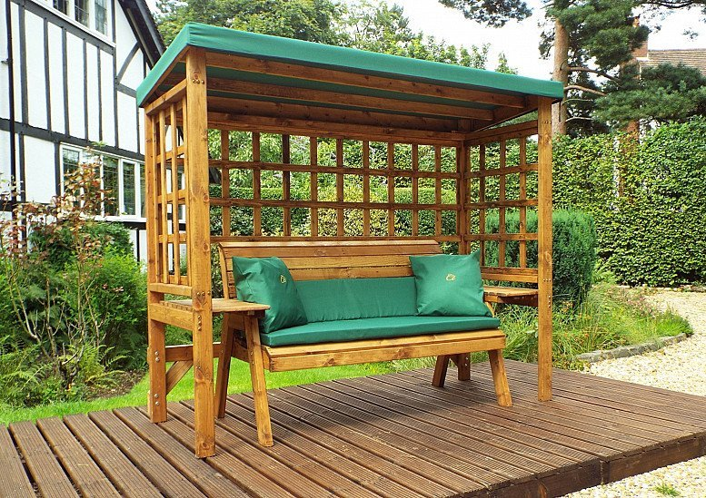 Wentworth Garden Arbour – Green 3 Seater