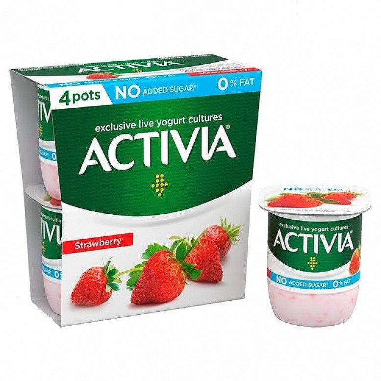 Activia Fat Free Strawberry Yogurts!