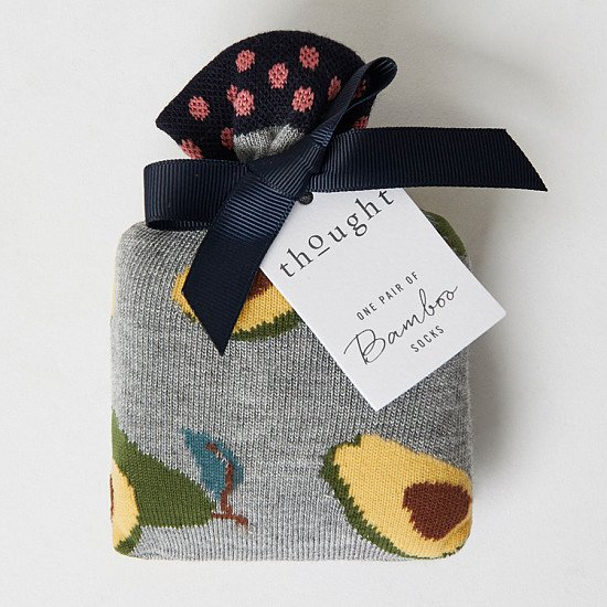 Give organic and sustainable gifts - AVOCADO BAMBOO SOCKS IN A BAG, £7.95!