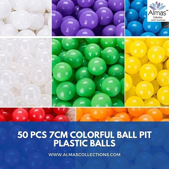 50 Pcs 7cm Colorful Ball Pit Plastic *****