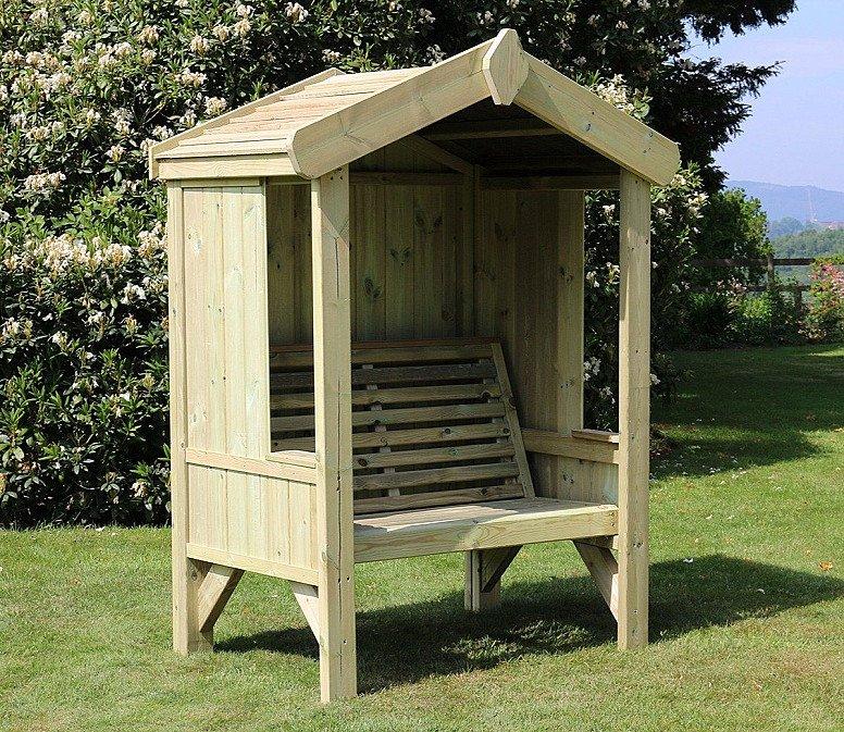 Cottage Arbour – Panelled Back & Sides – 2 seats (CA101)