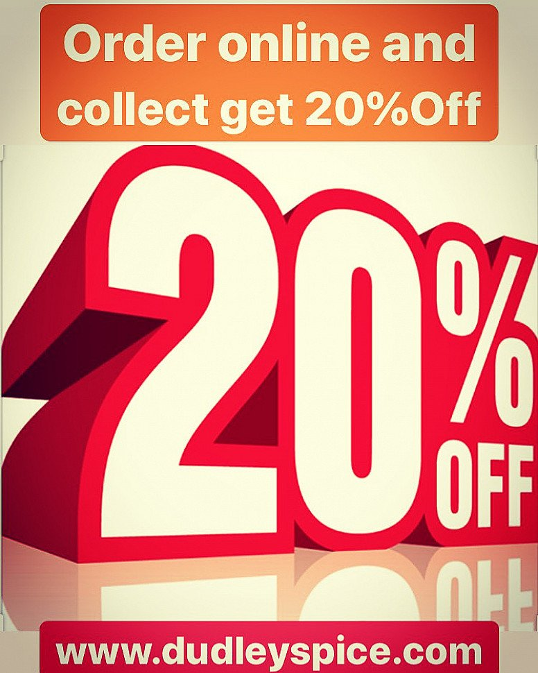 20%off on all online collection orders
