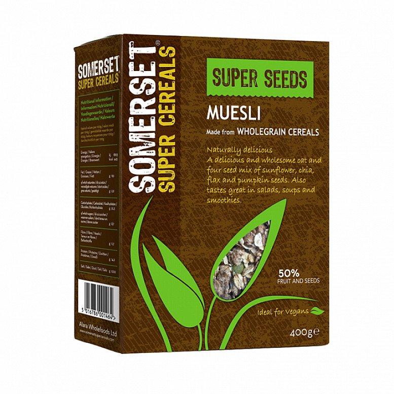 2 FOR £3.50 MIX & MATCH - Somerset Super Seeds Muesli 400g: £1.99!