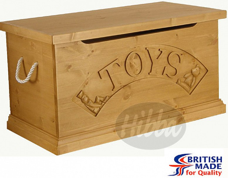 Solid Pine Toy Box – Prince George's Christening gift