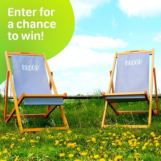 WIN - 2 Limited Edition Brood Deck Chairs