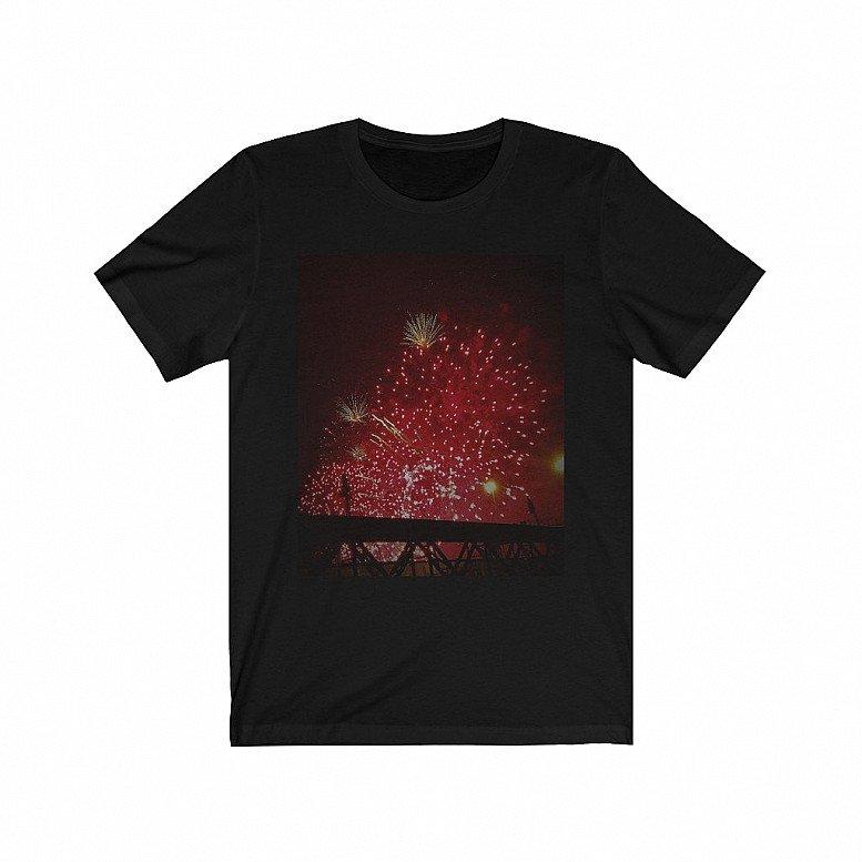 Fireworks Black Range Unisex Black Jersey Short Sleeve T-shirt