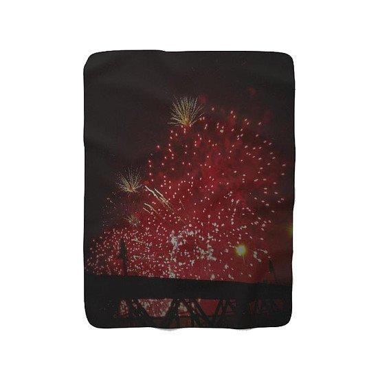 Fireworks Black Range Sherpa Fleece Blanket