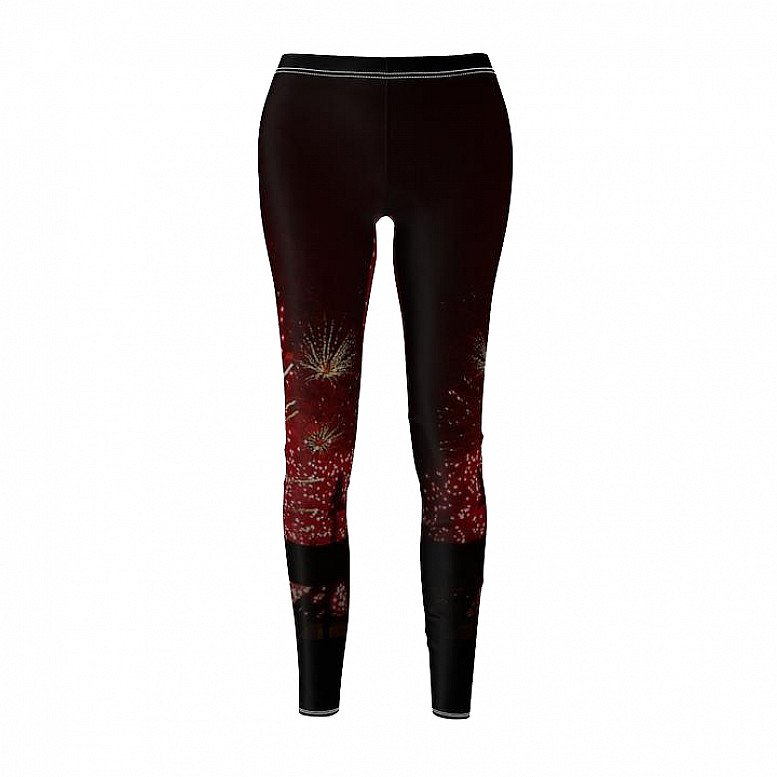 Fireworks Black Range Women's Cut & Sew Casual Leggings