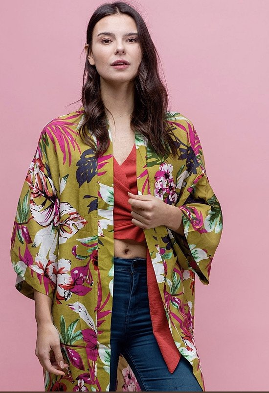 Rio Green Kimono