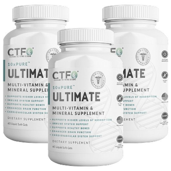 10xPURE™ Ultimate Multi-Vitamin & Mineral Supplement - 3 Pack