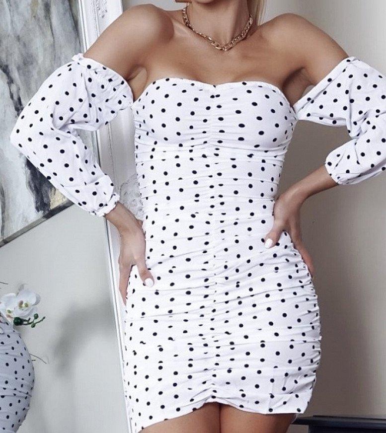 Polka dot Bardot Dresses