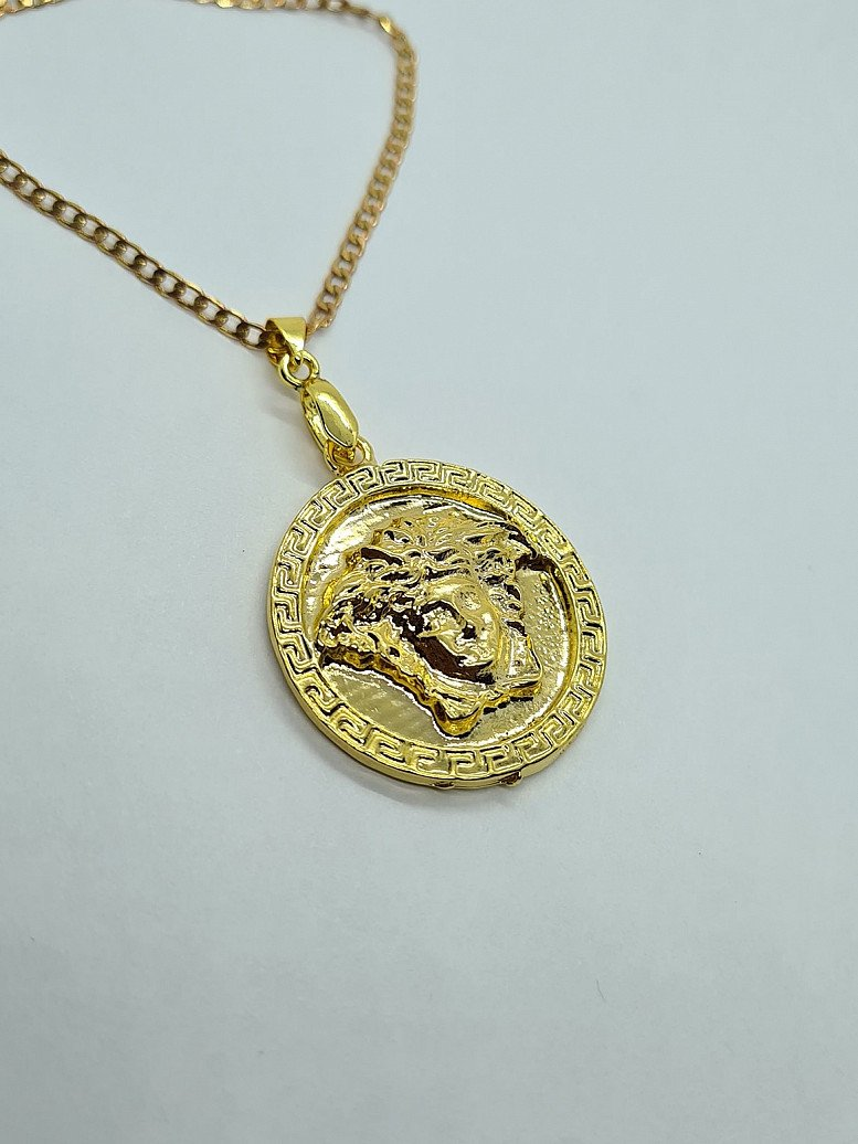 Gold Plated 24k Medusa Necklace | Chain