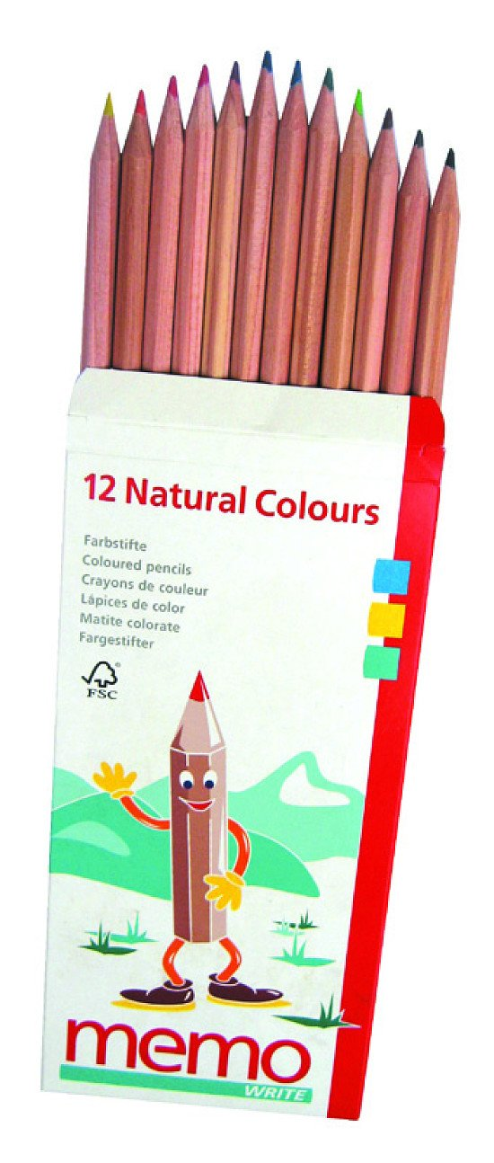 NEW IN - 12 Wooden Natural Coloured Pencils £4.60