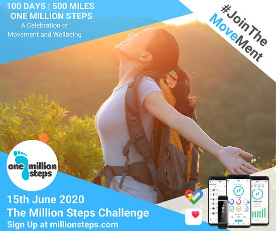 20% of The Million Steps Challenge 15th June 2020!