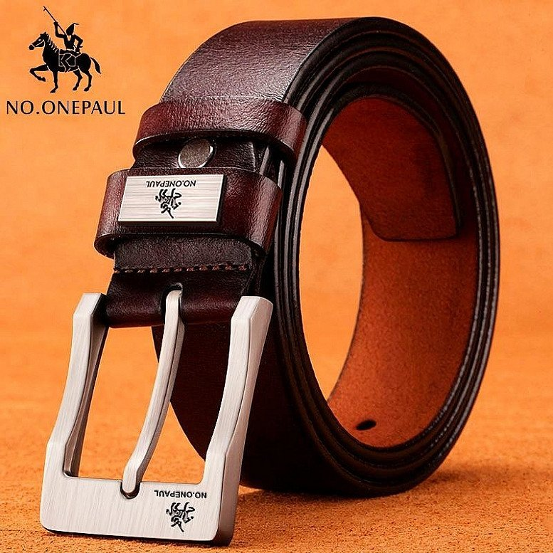 No. ONE PAUL GENUINE LEATHER BELT FOR MEN