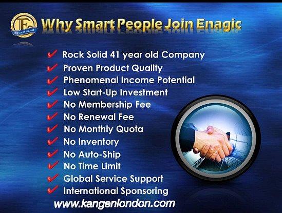 Way smart people join Enagic