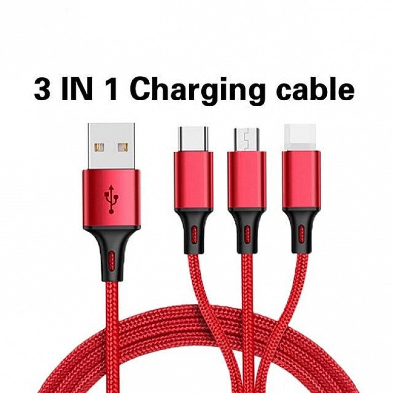 3 IN 1 TYPE C MICRO USB MULTI CHARGER