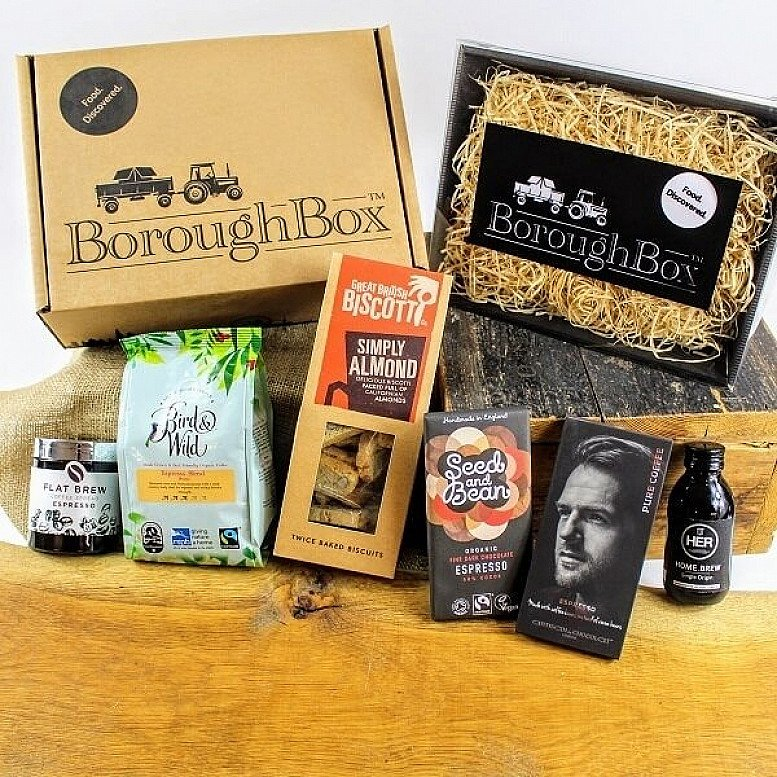 Coffee Lovers Gift Box including Coffee, Flat Brew Espresso Spread, Biscotti and Chocolate £34.99!